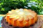 Заливной грушевый пирог