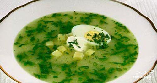 Рецепт Щи из щавеля с яйцом
