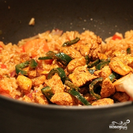 Рис с курицей и овощами - фото шаг 13