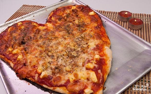 Пицца на день святого Валентина - фото шаг 7