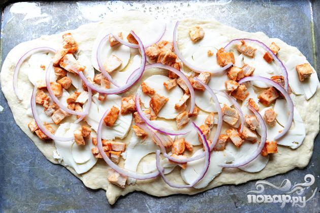 Пицца с курицей и сыром - фото шаг 18