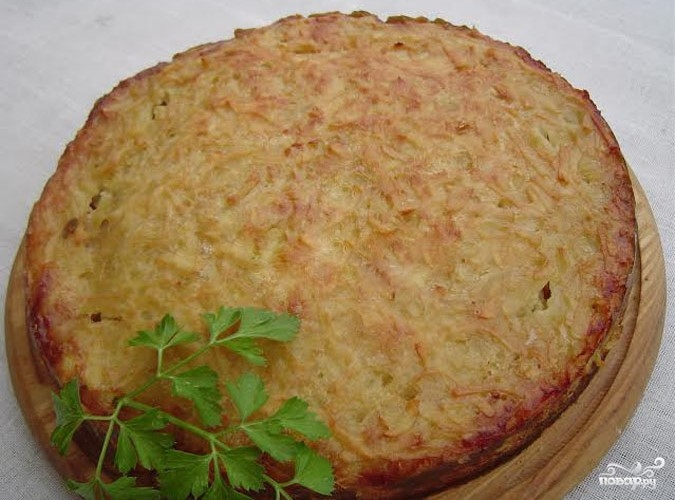 Картофельная бабка с фаршем - фото шаг 5