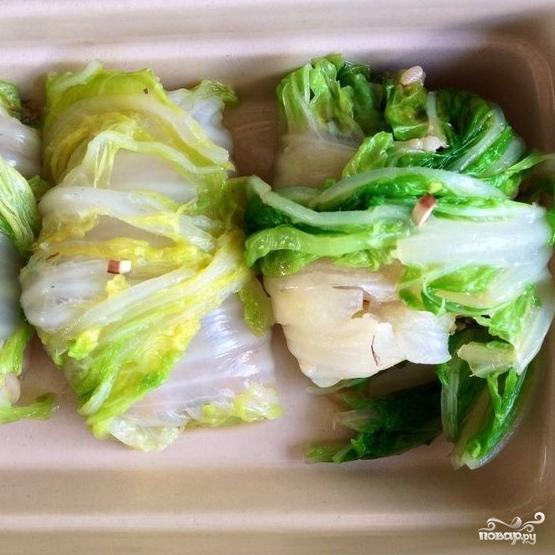 Китайская капуста, фаршированная коричневым рисом - фото шаг 6