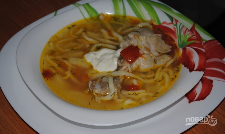 Суп из лапши - фото шаг 8