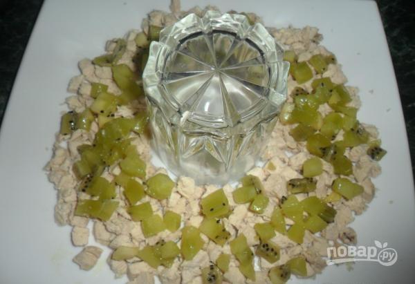 салат браслет с киви пошаговый рецепт с фото