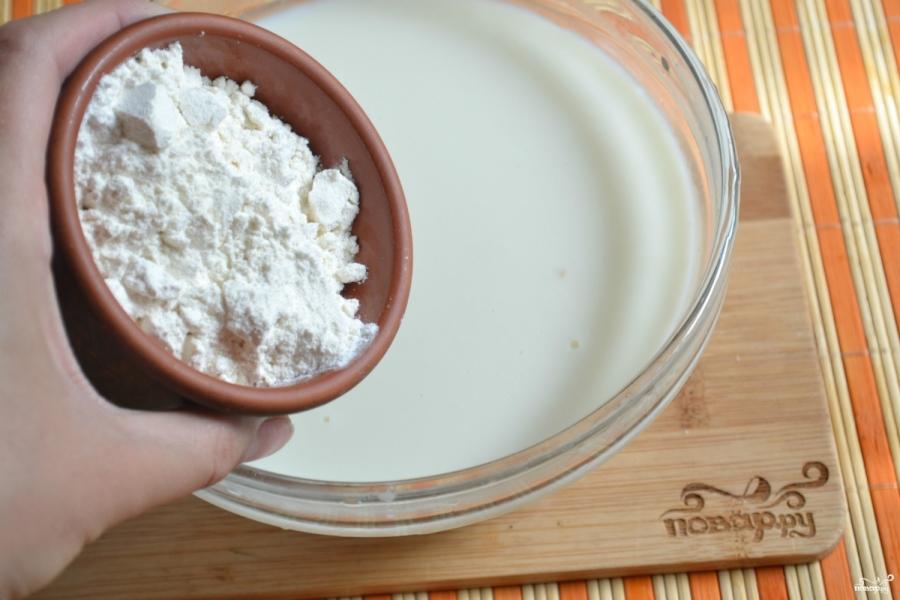 Блины на молоке тонкие - фото шаг 3