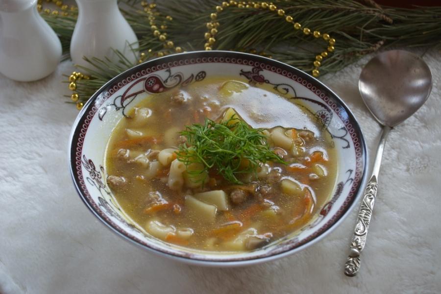 Суп  с фаршем и макаронами - фото шаг 7