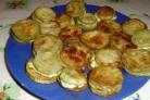 Жареные кабачки с плавленым сыром