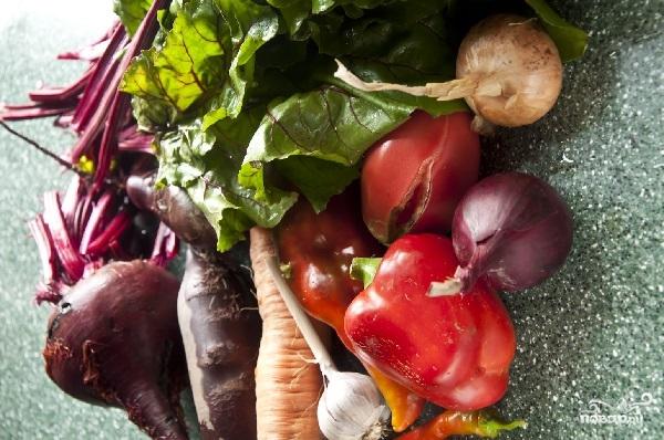 Овощной борщ - фото шаг 1