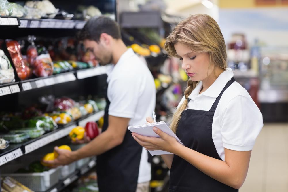 Распределение продуктов по нижним и верхним полкам