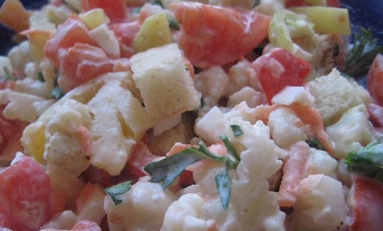 Салат из свежей цветной капусты - фото шаг 9