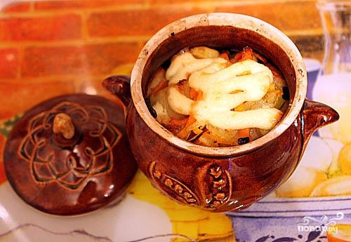 Рецепт Жаркое с грибами в горшочках