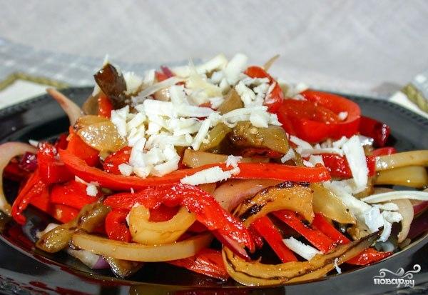 Теплый овощной салат - фото шаг 4