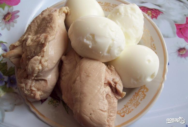 Салат из шампиньонов и курицы - фото шаг 1
