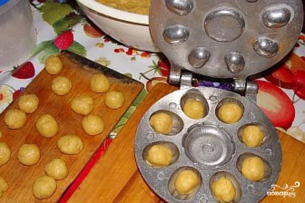 Печенье орешки в форме