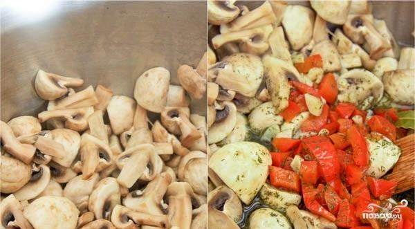 Вкусная закуска из грибов и перца - фото шаг 2