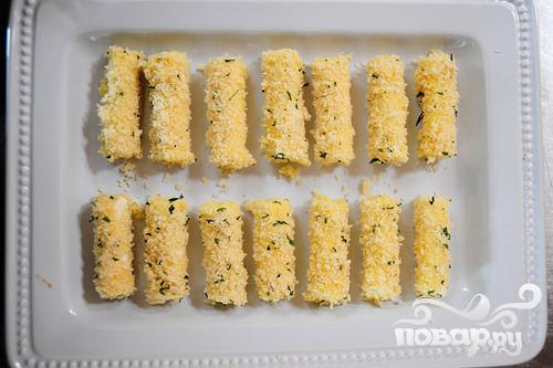 Сыр Моцарелла в панировке - фото шаг 4