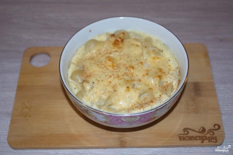 Макароны с сыром в духовке - фото шаг 7