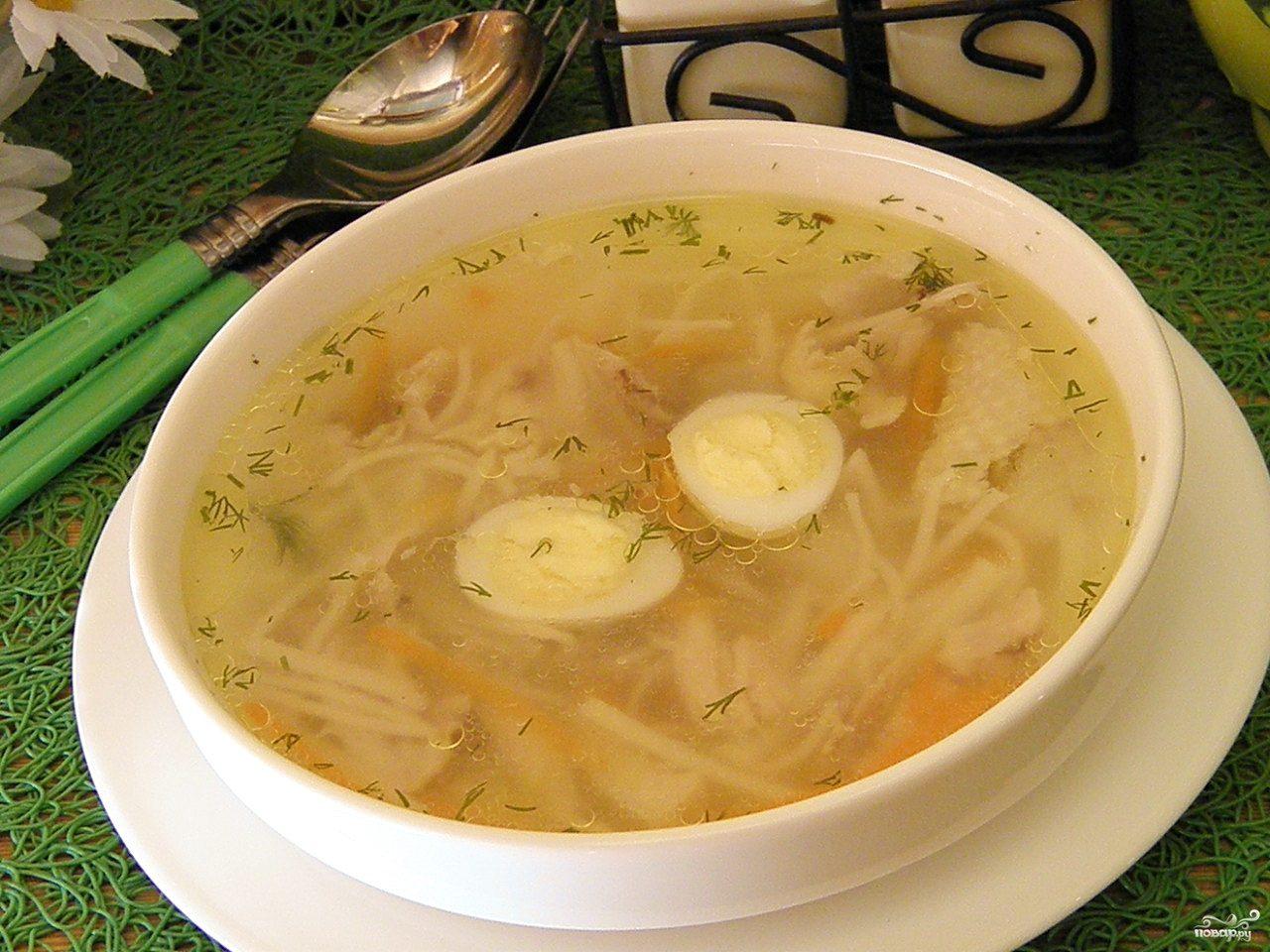 пошаговый рецепт куриного супа с домашней лапшой