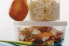 Коричневый рис с овощами и тофу