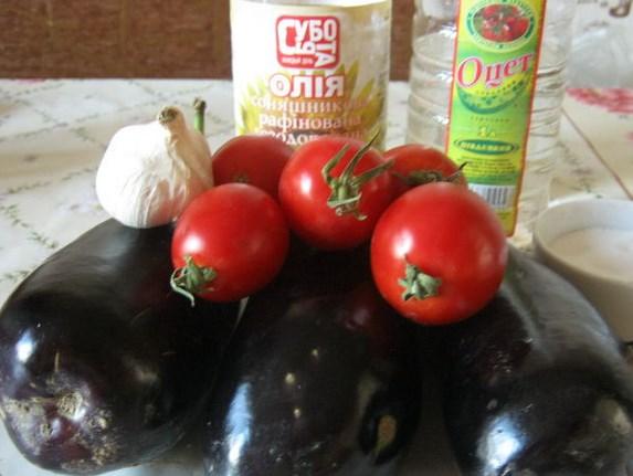 Рецепт Баклажаны жареные с уксусом