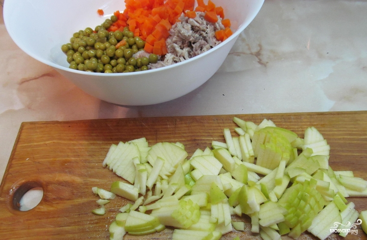 Салат со свининой - фото шаг 2
