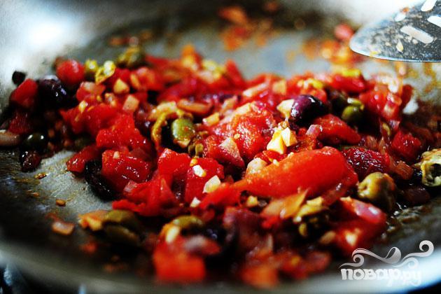Паста с куриным филе и красным луком - фото шаг 2