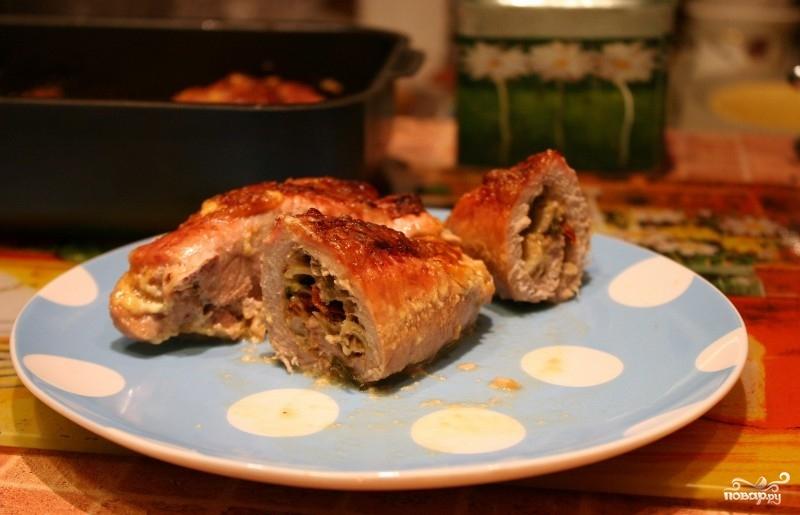 Рулетики из мяса в духовке