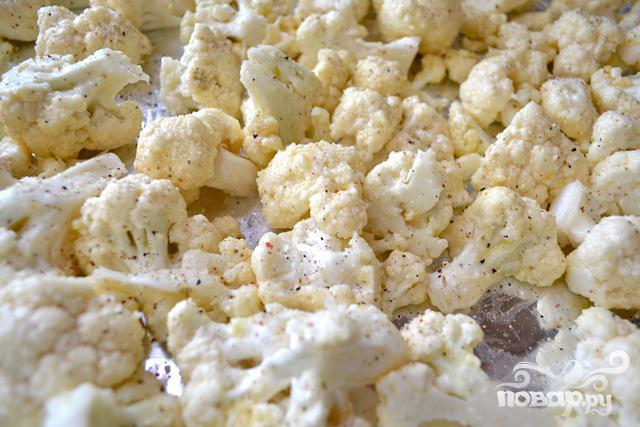 Цветная капуста с чесноком и сыром - фото шаг 2