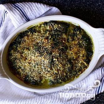 Запеченный шпинат с сыром - фото шаг 5