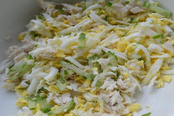 салат с курицей и огурцом пошаговый рецепт