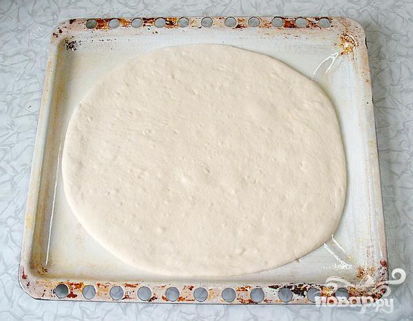 Пресный пирог с грибами - фото шаг 4