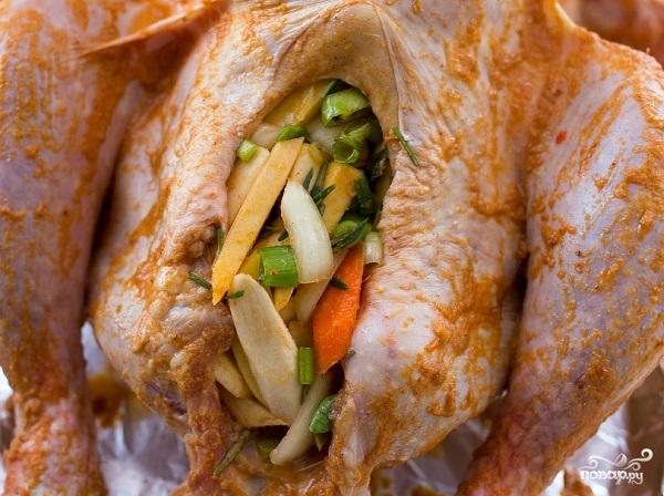 Индейка, запеченная с овощами - фото шаг 4