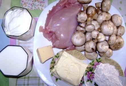 Рецепт Жульен с грибами на сковороде