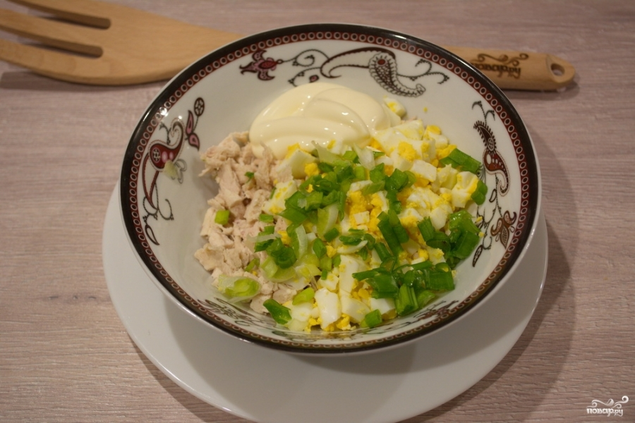 Салат в виде арбуза - фото шаг 2