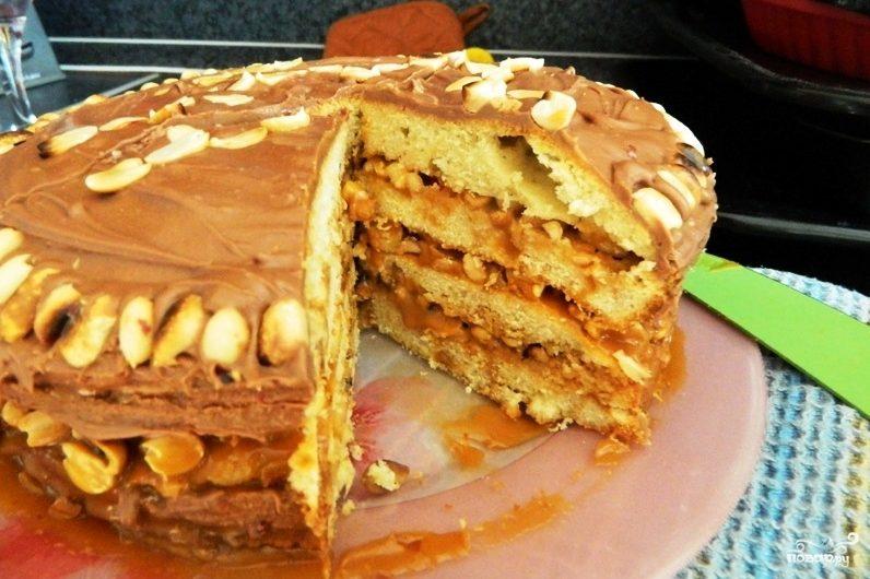 """Торт """"Сникерс"""""""