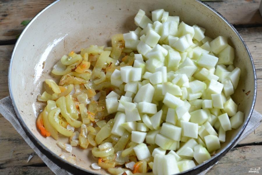 Кабачковая икра с болгарским перцем на зиму - фото шаг 4