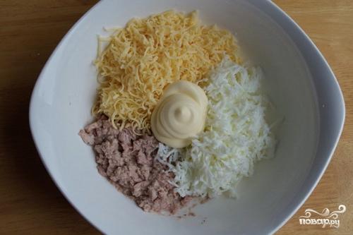 Начинка для тарталеток с печенью трески - фото шаг 5