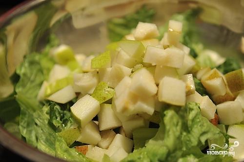 Салат с грушей и сыром - фото шаг 8