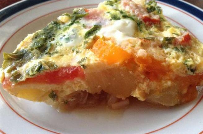 Жареные кабачки с помидорами и яйцом - фото шаг 4