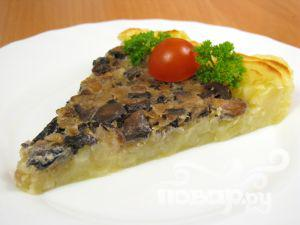 Рецепт Запеканка с грибами и картофельным пюре