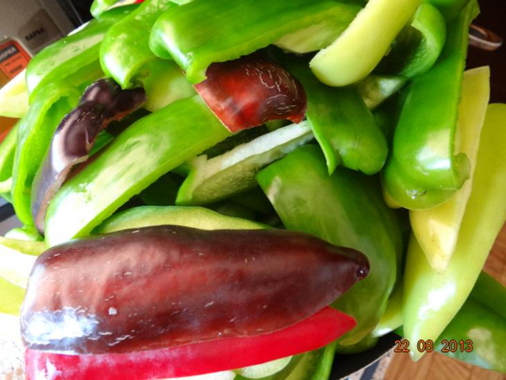 Рецепт Перец с чесноком на зиму