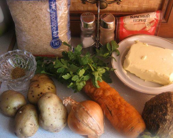 Рецепт Овощной суп без мяса