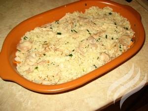 Рисовая запеканка с курицей - фото шаг 7