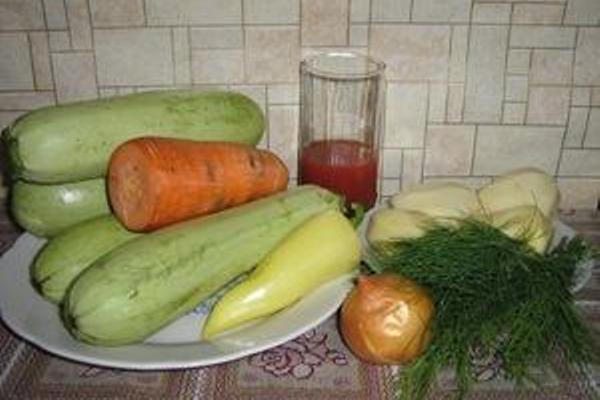 Рецепт Кабачки с картошкой тушеные