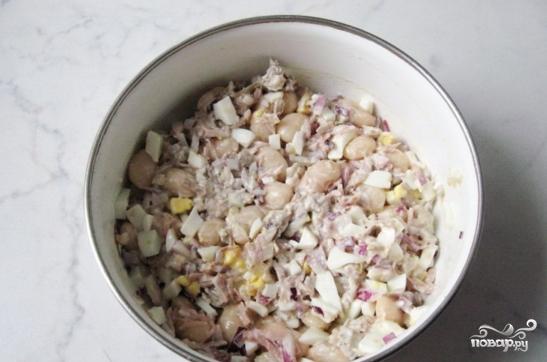 Салат из индейки с фасолью - фото шаг 5