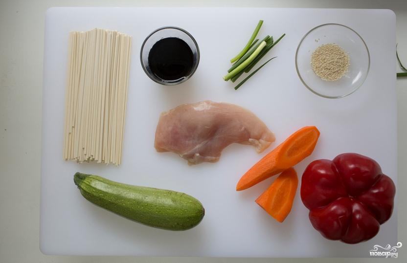 Курица терияки с лапшой - фото шаг 1