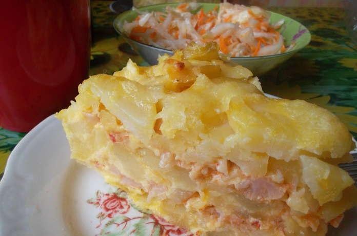 Картофельная запеканка с капустой - фото шаг 9