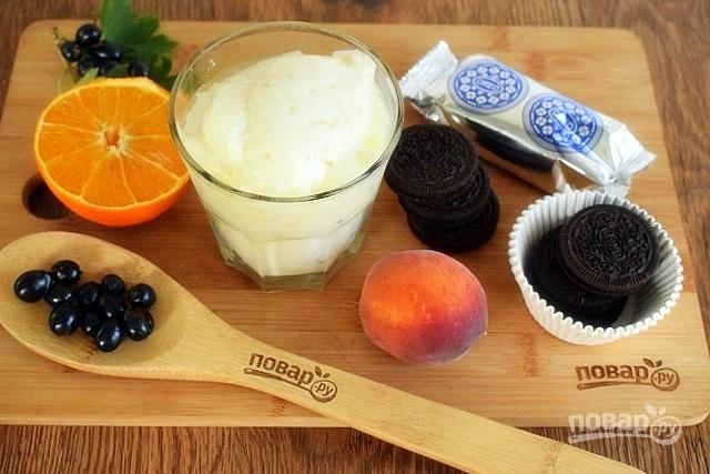 """Пирожные """"Орео"""" под йогуртом"""