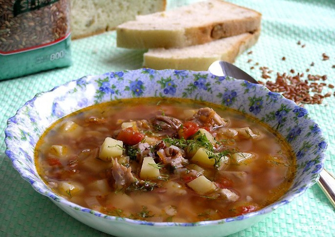 Суп рисовый со свининой - фото шаг 11